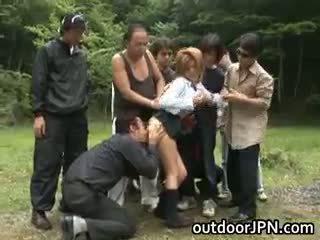 日本の, 集団セックス, 異人種間の