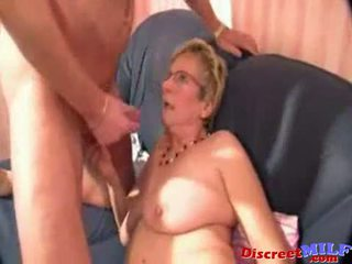 Nerdy Granny With Eyeglasses Gets Fucked Hard