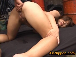 Yuka matsushita receives her a hole sikilen and fingered