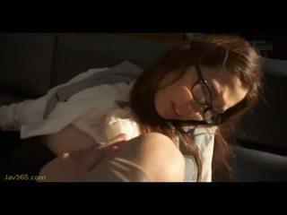 Ooba yui מזכירה זיון שלה בוס 1