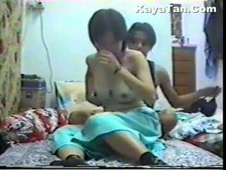 Malay chinese saperangan bayan under hidden cam
