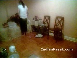 Indiane punjab universitet çift qirje i vështirë në dhomë gjumi