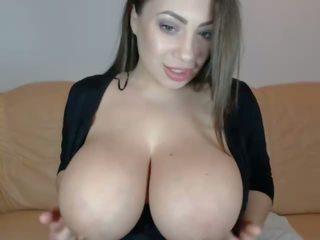 buah dada besar, webcam, tits semula jadi besar