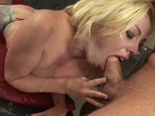 Sexy Blonde Slut Adrianna Nicole Gagging On A Cock