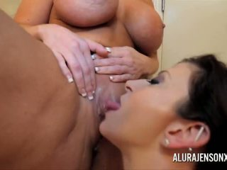 Milf Alura Jenson and Sara Jay in lesbian anal and pussy fun - Porn Video 221