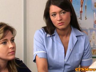 Cfnm νοσοκόμα nadia elainas ασθενής cums
