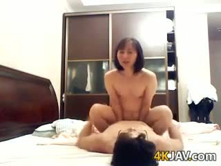 Japanese Housewife Riding Her Husband