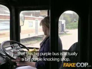 Fake cop copper fucks bus driver in the arse