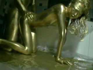 Fuck with Gold Paint: Funny HD Porn Video 72