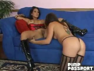 Adorable Lesbians Penny Flame And Gianna Lynn Tasting Their