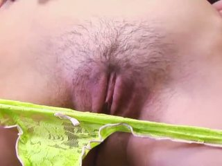 Teen show her pink hairy pussy Video