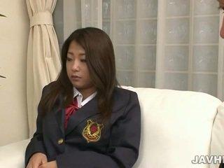 ญี่ปุ่น เด็กนักเรียนหญิง toying และ การดูด