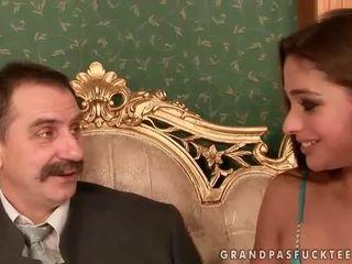 Cathy Heaven enjoys sex with grandpa