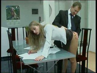 Blond püksikud kontoris beib fuck