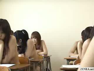 Ιαπωνικό schoolgirls όλα πηγαίνω γυμνός σε σχολείο
