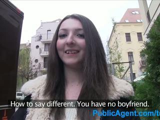 Publicagent tenåring brunette gets knullet hardt i en hotel rom