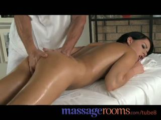 Massage Rooms Shy virgin girls have first time hardcore sex before creampie