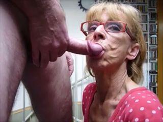 blowjobs, merangkap di dalam mulut, nenek