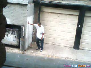 Трахання a проститутка в an alley