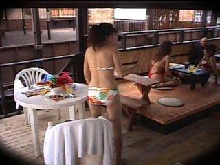 japonês, massagem, clube