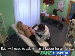 FakeHospital Cheating blonde sucks and fucks after striking a fast surgery deal with the doctor