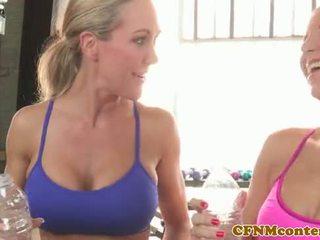 CFNM Brandi Love group fuck with Ashley Fires