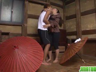 japonês, masturbação, maduro