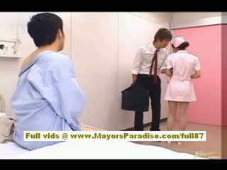 Nao yoshizaki seksualu kinietiškas mergaitė enjoys apie a autobusas važiuoti