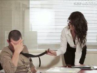 Splendide bureau fille alexa tomas screwed