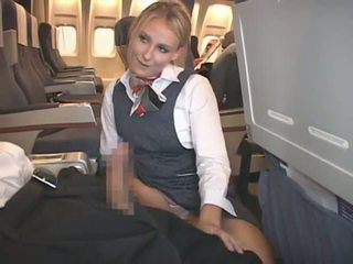 sborrata, interrazziale, stewardess