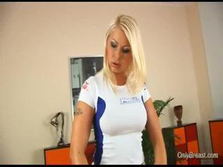 Sporty Blonde Rides Boner
