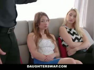 Daughterswap - tricking & baise leur papas pendant mardi-gras