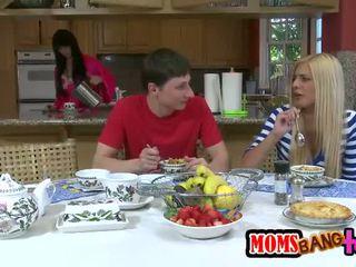 Stepmom whore seduces a teens boyfriend