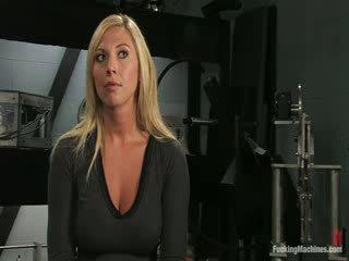 Girl with her dildo machine
