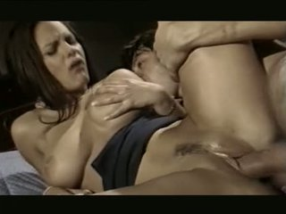 brunette, oral sex, group sex