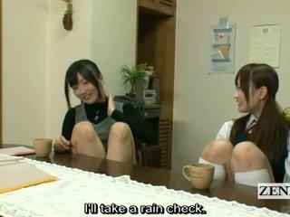 Subtitled 동성애의 일본의 선생 bath 와 여학생