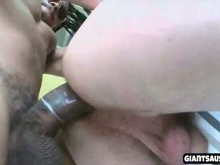 White dude gets black cock in the ass