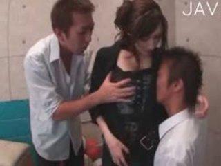 japanese, big boobs, threesome