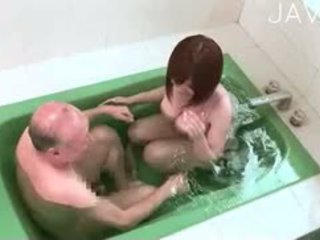 japonés, big boobs, ducha