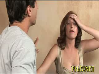 Beauty caresses her cunt