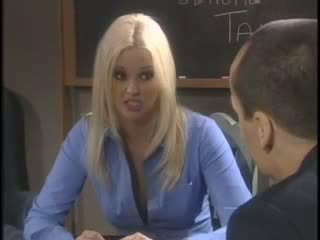 Office Blonde Babe hardcore Creampie with Boss
