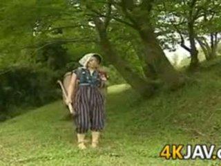 Clássicos japonesa a foder outdoors