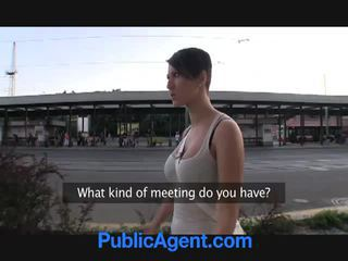 brunette, openbare sex, grote borsten