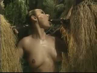 mujer, africano, americano