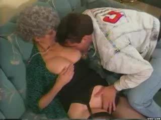 Granny teaches granddaughters babe boyfriend