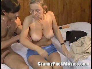 granny, big tits, tanned