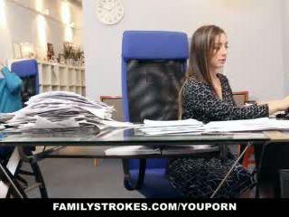 Familystrokes - dalis laikas žingsnis dukra becomes full-time kūrva