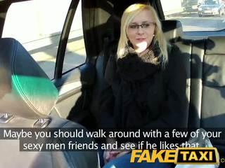 Faketaxi секси млад блондинки в payback отмъщение
