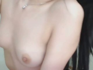 Pretty Japanese Babe Fucks her Tight Ass