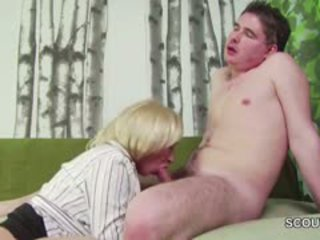 18yr Old German Boy Seduce Step-Mom Masturbation And Fuck